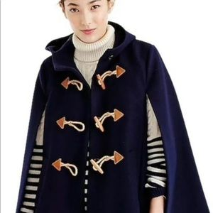 J.Crew Navy Wool Toggle Cape